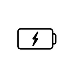 thin line battery icon on white background vector image vector image