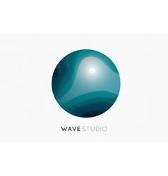 Wave logo Business Icon Blue logo Company logo vector image vector image