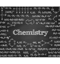 Welcome back to school with formula on blackboard vector image vector image
