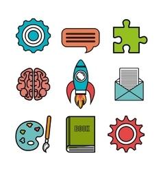 brain storming design vector image vector image