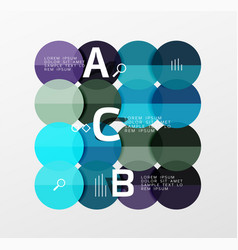 circle bubbles modern geometric background vector image vector image