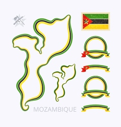 Colors of Mozambique vector image