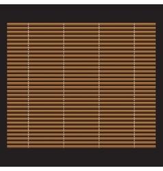 Traditional makisu woven mat for sushi rolls vector