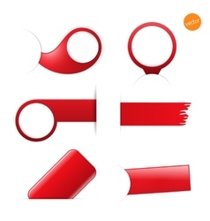 Big set of empty tags with place for you graphic vector image vector image