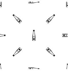 bottle of ketchup pattern seamless black vector image vector image