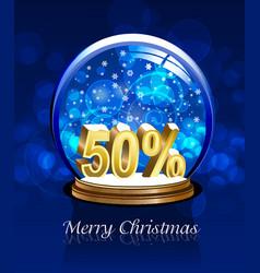 christmas snow globe discount vector image vector image