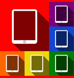 computer tablet sign set of icons with vector image