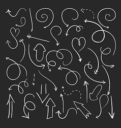 Hand drawn arrows vector