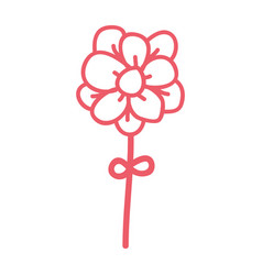 line icon flower cartoon vector image