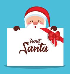 merry christmas santa character vector image vector image