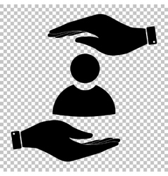 User sign Flat style icon vector image vector image