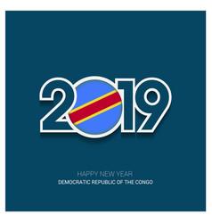 2019 democratic republic congo typography vector