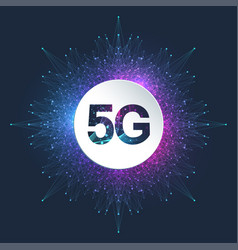 5g network wireless system and internet connection vector image