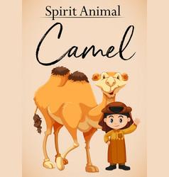 a spirit animal camel vector image