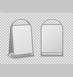 Advertising street stand empty announcement vector