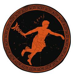 ancient greek god hermes vector image