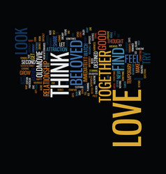 are you in love text background word cloud concept vector image