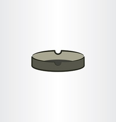 Ashtray icon clip art vector