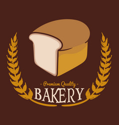 Bakery pq bread brown background vector
