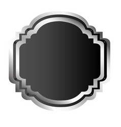 Black silhouette elegant heraldic decorative frame vector