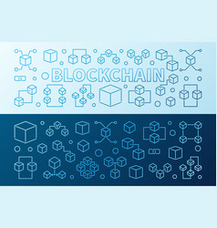 blockchain technology colorful 2 horizontal vector image