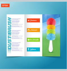 Brochure template with realistic colored duster vector