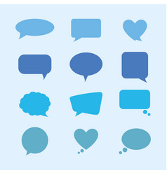 Bundle speech bubble with icons vector