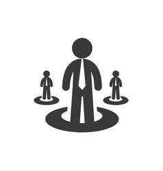 businessmen icon vector image