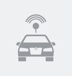 Car antenna conncetion concept vector