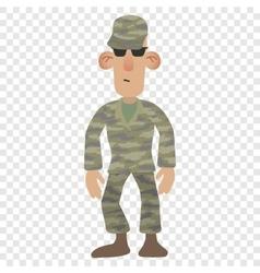 Cartoon soldier man vector
