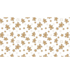 christmas pattern with cute assets vector image