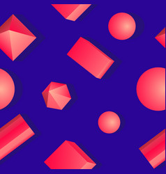 Colorful bright pattern of geometric shapes vector