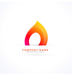 Creative flame logo in abstract style vector