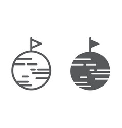 Discover line and glyph icon space and astronomy vector
