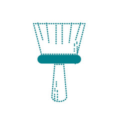 dotted shape broom sweep equipment to clean house vector image
