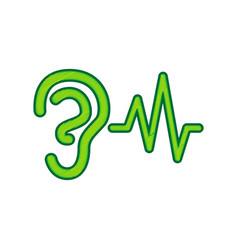 Ear hearing sound sign lemon scribble vector