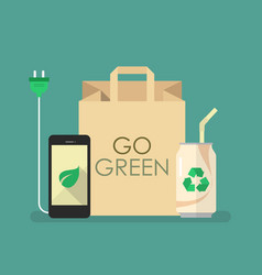 Eco friendly products vector