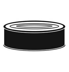 Fish tomato tin can icon simple style vector
