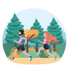 Fitness sport train cartoon vector