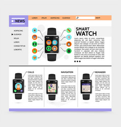 flat modern technology website template vector image