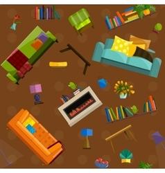 Furniture Shop Super Sale seamless pattern vector image