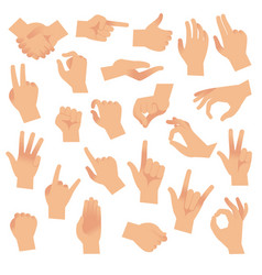 Gesturing hands hand with counting gestures vector
