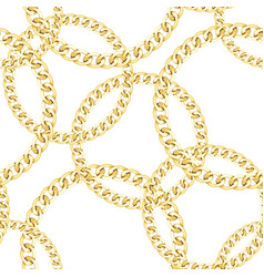 golden chains seamless pattern luxury fashion vector image