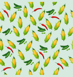 Grean peas pod vector