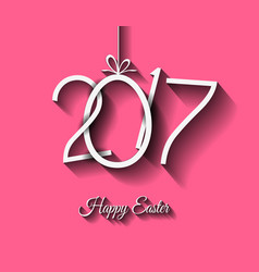 happy 2017 easter modern and elegant background vector image