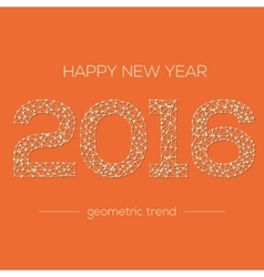 happy new year 2016 colorful greeting card made vector image