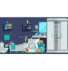 Hygiene Icons Orthogonal Flat Composition vector image