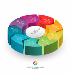 infographic isometric 3d process chart vector image