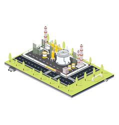 Isometric oil petroleum industrial zone vector