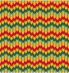 Knitter seamless pattern with stripes and zigzag vector
